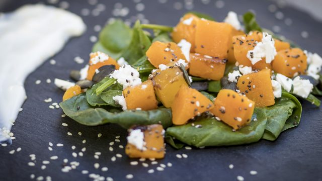 food photography_butternut salad